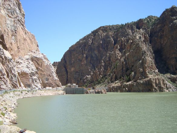 Buffalo Bill Dam nabij Cody